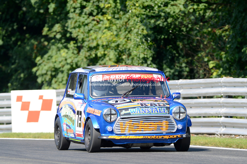 #73 Spencer Wanstall Mini 7 during Mini Se7en - Qualifying as part of the Mini Festival  at Oulton Park, Little Budworth, Cheshire, United Kingdom. August 08 2015. World Copyright Peter Taylor. Copy of publication required for printed pictures.  Every used picture is fee-liable. http://archive.petertaylor-photographic.co.uk