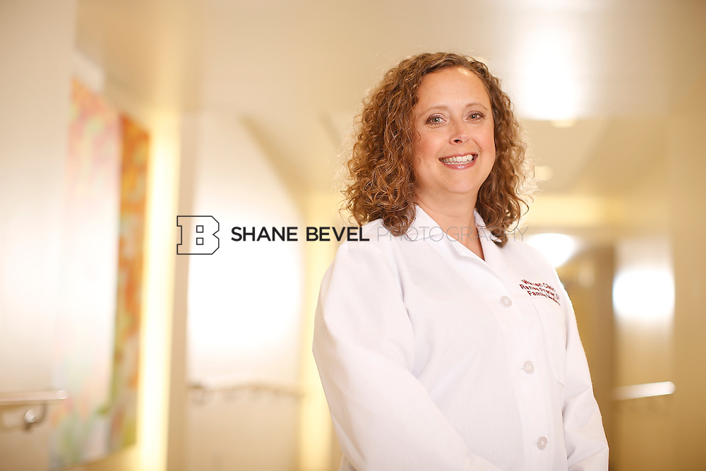 5/28/15 4:12:45 PM -- Dr. Renee Frenier of Saint Francis Health System poses for a portrait for the 2015 Advertising Campaign. <br /> <br /> Photo by Shane Bevel