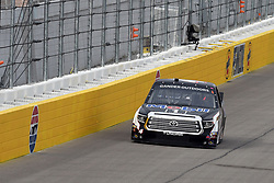 March 1, 2019 - Las Vegas, NV, U.S. - LAS VEGAS, NV - MARCH 01: Todd Gilliland (4) Kyle Busch Motorsports (KBM) Toyota Tundra drives into turn one during qualifying for NASCAR Gander Outdoors Truck Series The Strat 200 on March 1, 2019, at Las Vegas Motor Speedway in Las Vegas, Nevada. (Photo by Michael Allio/Icon Sportswire) (Credit Image: © Michael Allio/Icon SMI via ZUMA Press)