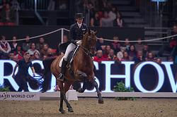Oatley Lyndal (AUS) - Sandro Boy 9<br /> Reem Acra FEI World Cup Dressage Kür<br /> London International Horse Show Olympia 2013<br /> © Hippo Foto - Jon Stroud