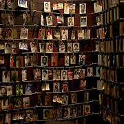 The Photo Memorial at the Kigali Memorial Centre in downtown Kigali, Rwanda, showing just a fraction of the some 1.1 million people killed in the 1994 genocide.