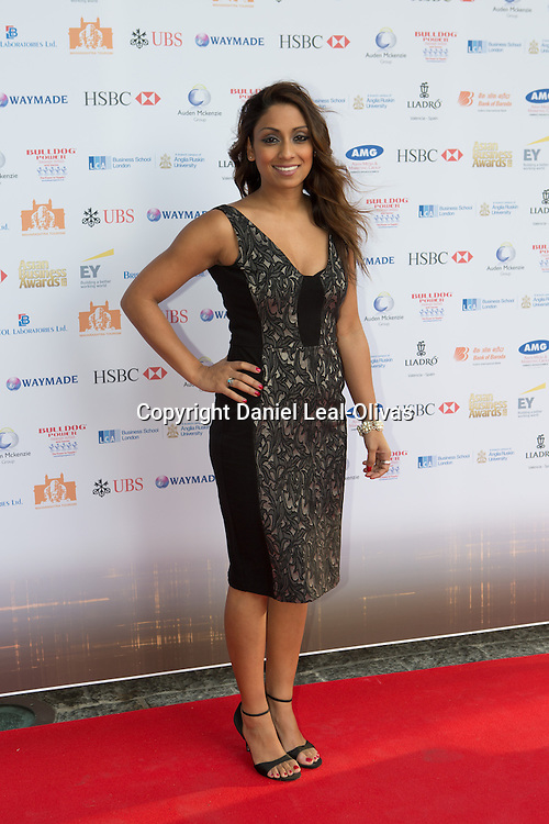 Asian Rich List Gala. Isa Guha attends the annual ceremony which recognises the country\'s richest Asians. Figures compiled by the Eastern Eye newspaper. Park Plaza Hotel, London, United Kingdom. Friday, 11th April 2014. Picture by Daniel Leal-Olivas / i-Images