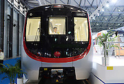 SHANGHAI, CHINA - JUNE 17: (CHINA OUT) <br /> <br /> Driverless Subway Train In Shanghai<br /> <br /> People visit the 1st driverless subway train made by Changchun Railway Vehicles Co., LTD. at Rail+Metro China 2014 on June 17, 2014 in Shanghai, China. The first driverless subway train in china was exhibited at Rail+Metro China 2014 on June 17 with the maximum passenger capacity of 1500.<br /> ©Exclusivepix