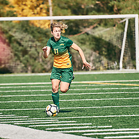 4th year forward, Kirsten Finley (11) of the Regina Cougars during the Women's Soccer home game on Sun Sep 09 at U of R Field. Credit: Arthur Ward/Arthur Images