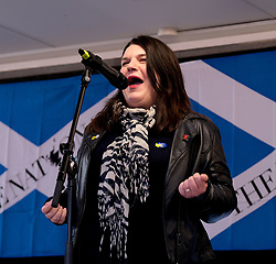 Independence Rally, Glasgow, Saturday 2nd November 2019<br /> <br /> Pictured: Leader of Glasgow City Council Susan Aitken<br /> <br /> Alex Todd | Edinburgh Elite media