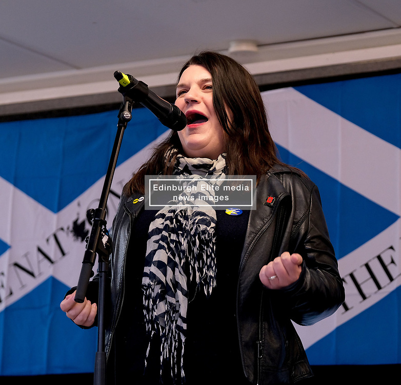 Independence Rally, Glasgow, Saturday 2nd November 2019<br /> <br /> Pictured: Leader of Glasgow City Council Susan Aitken<br /> <br /> Alex Todd | Edinburgh Elite media