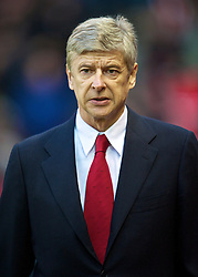 STOKE-ON-TRENT, ENGLAND - Saturday, February 27, 2010: Arsenal's manager Arsene Wenger before the FA Premier League match against Stoke City at the Britannia Stadium. (Photo by David Rawcliffe/Propaganda)