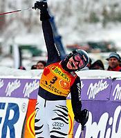 Alpint<br /> Verdenscup slalåm kvinner<br /> 8. februar 2004<br /> Arber - Tyskland<br /> Foto: Digitalsport<br /> Norway Only<br /> Monika Bergmann