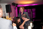 MICK HUCKNALL; GABRIELLA WESTBERRY, The Tomodachi ( Friends) Charity Dinner hosted by Chef Nobu Matsuhisa in aid of the Japanese Tsunami Appeal. Nobu Park Lane. London. 4 May 2011. <br /> <br />  , -DO NOT ARCHIVE-© Copyright Photograph by Dafydd Jones. 248 Clapham Rd. London SW9 0PZ. Tel 0207 820 0771. www.dafjones.com.