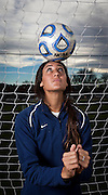 BYU senior defender Lindsi Lisonbee Cutshall poses for a portrait after practice in Provo , Tuesday, Nov. 20, 2012.
