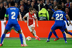 Lisandro Martínez #21 of Ajax in action during the Europa League match R32 second leg between Ajax and Getafe at Johan Cruyff Arena on February 27, 2020 in Amsterdam, Netherlands