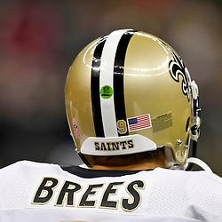 October 7, 2012; New Orleans, LA, USA; New Orleans Saints quarterback Drew Brees (9) against the San Diego Chargers during the first quarter of a game at the Mercedes-Benz Superdome. Mandatory Credit: Derick E. Hingle-US PRESSWIRE