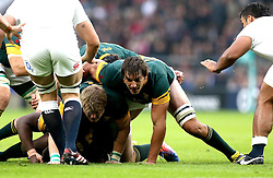 Eben Etzebeth of South Africa rucks over - Mandatory by-line: Robbie Stephenson/JMP - 12/11/2016 - RUGBY - Twickenham - London, England - England v South Africa - Old Mutual Wealth Series