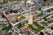 Nederland, Utrecht, Amersfoort, 17-07-2017; centrum Amersfoort met als bezienswaardigheden het winkelcentrum SInt-Jorisplein en de Onze Lieve Vrouwetoren.<br /> Center of Amersfoort and within the Stadsring and historical sights.<br /> <br /> luchtfoto (toeslag op standard tarieven);<br /> aerial photo (additional fee required);<br /> copyright foto/photo Siebe Swart