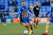 Shrewsbury Town midfielder Alex Rodman (23) in action  during the EFL Sky Bet League 1 match between Shrewsbury Town and AFC Wimbledon at Greenhous Meadow, Shrewsbury, England on 24 March 2018. Picture by Simon Davies.
