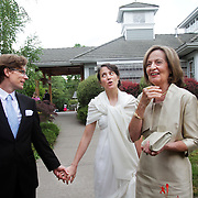 Caroline Pappajohn and Paul Schroeder are married at St. Nicholas Orthodox Church in Portland, Ore., on July 22, 2012.