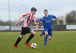 Liam Hughes Ballyglass on the attack against Manulla. Pic Conor McKeown