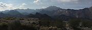 Landscape panorama photo of mountains near San Felipe, Baja California, Mexico
