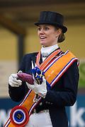 Podium Nederlands Kampioenschap 1. Madeleine Witte Vrees, <br /> KNHS Indoorkampioenschappen 2012<br /> © DigiShots