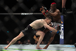 March 16, 2019 - London, United Kingdom - Marc Diakiese beats Joe Duffy by unanimous decision during UFC Fight Night 147 at the London O2 Arena, Greenwich on Saturday 16th March 2019. (Credit Image: © Mi News/NurPhoto via ZUMA Press)