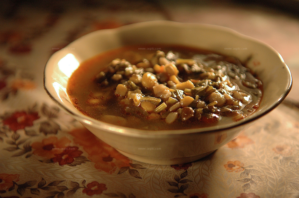 Palak Dal - lentil and spinach soup ( Recipe available upon request )