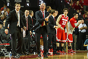 January 20, 2014: Head coach Thad Matta of the Ohio State Buckeyes upset with a call in the game against the Nebraska Cornhuskers at the Pinnacle Bank Arena, Lincoln, NE. Nebraska won in the game against Ohio State 68 to 62.