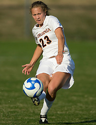 Virginia midfielder/defender Nikki Krzysik (23)..The Virginia Cavaliers defeated the William and Mary Tribe 1-0 in the second round of the NCAA Women's Soccer tournament held at Klockner Stadium in Charlottesville, VA on November 18, 2007.