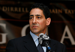 July 13, 2009; New York, NY, USA; Showtime's Ken Hershman speaks at the press conference at Madison Square Garden announcing the Super Six World Boxing Classic, which will pit six of the world's top super middleweights in a series of bouts.