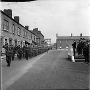 26/04/1963<br /> 04/26/1963<br /> 26 April 1963<br /> Taoiseach reviews the 39th Battalion before its deployment to the Congo. Officers and men of the 39th Battalion being reviewed by An Taoiseach Sean Lemass at a march past at Cathal Brugha Barracks, Dublin.