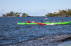 Caoe club time on Hilo Bay.