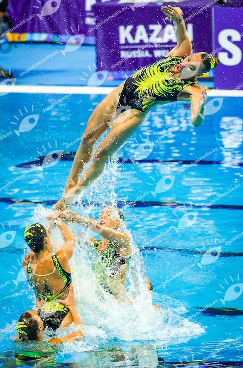 Italy ITA<br /> Synchro Team Teach<br /> Day02 25/07/2015<br /> XVI FINA World Championships Aquatics Synchro<br /> Kazan Tatarstan RUS July 24 - Aug. 9 2015 <br /> Photo Pasquale Mesiano/Deepbluemedia/Insidefoto