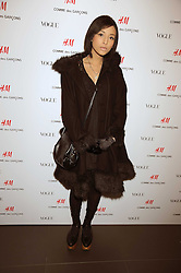 LEAH WELLER at a preview of the H&M Comme des Garcons collection held at H&M Regent Stret, London on 12th November 2008.