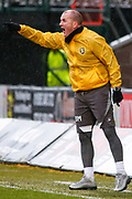 Livingston FC Asst Manager David Martindale screams at his  players during the Ladbrokes Scottish Premiership match between St Mirren and Livingston at the Simple Digital Arena, Paisley, Scotland on 2nd March 2019.