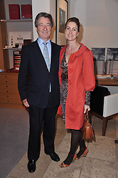 JAMES & LUCINDA BRUCE at a party to celebrate the publication of 'Garden' by Randle Siddeley held at Linley, 60 Pimlico Road, London on 24th May 2011.