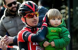 BAJC Andi (SLO) of BMC Amplatz with his family during the UCI Class 1.2 professional race 4th Grand Prix Izola, on February 26, 2017 in Izola / Isola, Slovenia. Photo by Vid Ponikvar / Sportida