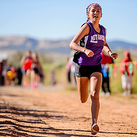 Miyamura Patriot Ashley Thomas sprints to first-place finish during the Gallup Invitational Saturday at Red Rock Park in Gallup.