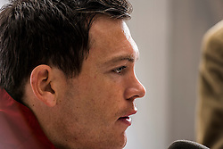 04.03.2014, AFG Arena, St. Gallen, SUI, Pressekonferenz der Schweizer Nationalmannschaft, vor dem Testspiel gegen Kroatien, im Bild Stephan Lichtsteiner (SUI) // during a press conference of swiss national football team prior to the international frindley against Croatia at the AFG Arena in St. Gallen, Switzerland on 2014/03/04. EXPA Pictures © 2014, PhotoCredit: EXPA/ Freshfocus/ Andy Mueller<br /> <br /> *****ATTENTION - for AUT, SLO, CRO, SRB, BIH, MAZ only*****