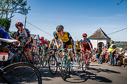 Peloton with KRUIJSWIJK Steven of Team LottoNL-Jumbo during the 1st lap on Mur de Huy at the 2018 La Flèche Wallonne race, Huy, Belgium, 18 April 2018, Photo by Thomas van Bracht / PelotonPhotos.com | All photos usage must carry mandatory copyright credit (Peloton Photos | Thomas van Bracht)