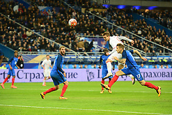 29.03.2016, Stade de France, St. Denis, FRA, Testspiel, Frankreich vs Russland, im Bild kokorin aleksandr, digne lucas, gignac andre pierre // during the International Friendly Football Match between France and Russia at the Stade de France in St. Denis, France on 2016/03/29. EXPA Pictures © 2016, PhotoCredit: EXPA/ Pressesports/ Jerome Prevost<br /> <br /> *****ATTENTION - for AUT, SLO, CRO, SRB, BIH, MAZ, POL only*****