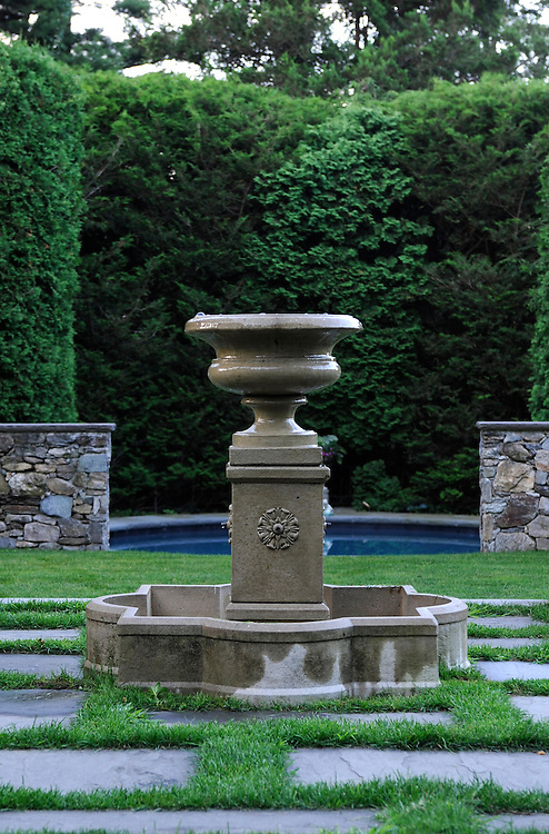THUJA (ARBORVITAE) AND FOUNTAIN