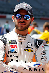 September 1, 2018 - Darlington, SC, U.S. - DARLINGTON, SC - SEPTEMBER 01:  Daniel Suarez, Joe Gibbs Racing, Toyota Camry ARRIS (19) during qualifying for the 69th annual Bojangles Southern 500 on Saturday September 1, 2018 at Darlington Raceway in Darlington South Carolina (Photo by Jeff Robinson/Icon Sportswire) (Credit Image: © Jeff Robinson/Icon SMI via ZUMA Press)