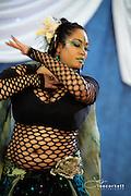 A dancer performs at The Badass Bellydance 2013 Festival in Santa Maria California