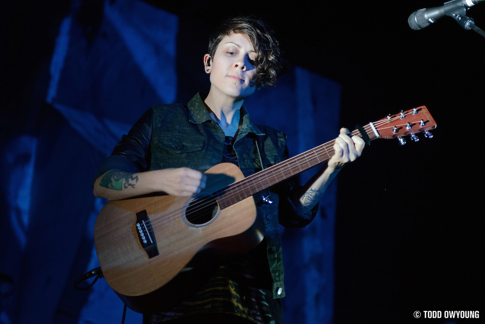 Canadian indie duo Tegan and Sara performing at the Pageant in St. Louis on March 10, 2013.