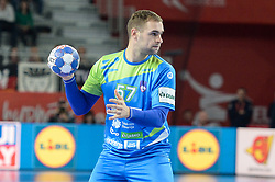 Leban Patrik of Slovenia during handball match between National teams of Slovenia and Czech Republic on Day 7 in Main Round of Men's EHF EURO 2018, on January 24, 2018 in Arena Varazdin, Varazdin, Croatia. Photo by Mario Horvat / Sportida