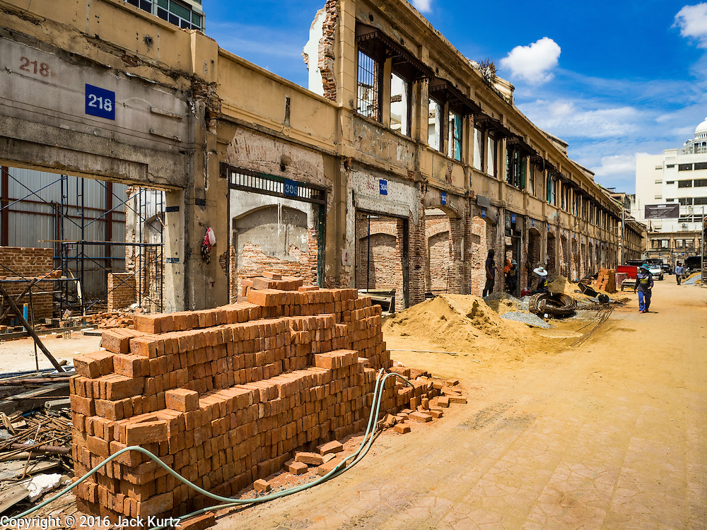 07 JUNE 2016 - BANGKOK, THAILAND: An urban renewal project on Yaowarat Road in Bangkok's Chinatown. The Chinatown neighborhood in Bangkok is considered by some to be one of the best preserved Chinatown districts in the world, is changing. Many of the old shophouses are being demolished and replaced by malls and condominium developments.        PHOTO BY JACK KURTZ