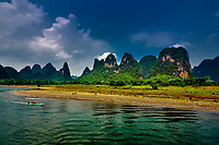 Li river, between Guilin and Yangshuo in Guangxi province  China