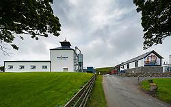 View of Kilchoman farm Distillery on island of Islay in Inner Hebrides of Scotland, UK