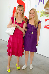 Left to right, CLEMENTINE FRASER and CHRISTABEL LAWSON-JOHNSON at a charity lunch organised in aid of ASAP (African Solutions to African Problems) held at the Louise T Blouin Foundation, 3 Olaf Street, London W11 on 23rd June 2010.