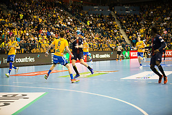 Tadej Kljun during handball match between RK Celje Pivovarna Lasko (SLO) and Paris Saint-Germain HB (FRA) in VELUX EHF Champions League 2018/19, on February 24, 2019 in Arena Zlatorog, Celje, Slovenia. Photo by Peter Podobnik / Sportida