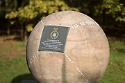 The Signals Intelligence and Communication Security Memorial at the National Memorial Arboretum, Croxall Road, Alrewas, Burton-On-Trent,  Staffordshire, on 29 October 2018. Picture by Mick Haynes.